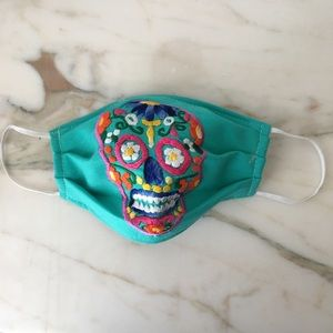 Sugar Skull Mask Mexican Handmade Embroidered